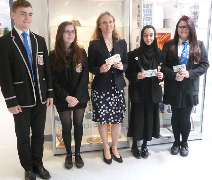 Bank of England Chief Cashier visits school