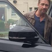 Gerard Butler spotted around Paisley this weekend