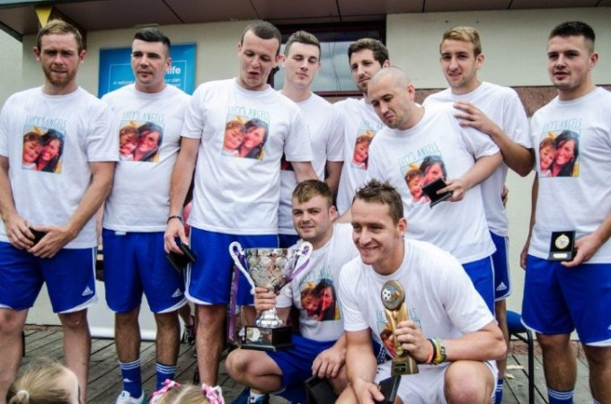 Lucy's Angels team won last year's No Substitute for Life football tournament