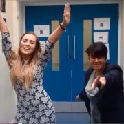 Staff at Williamsburgh Primary film their own version of Uptown Funk