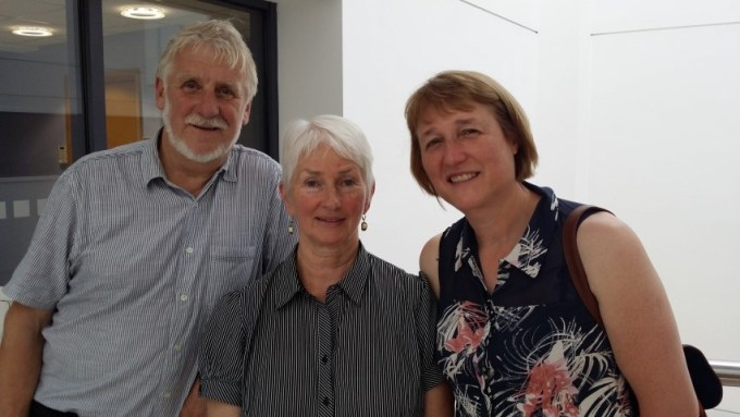 l-r Dave Mellor and Mary Alice Mansell, Lochwinnoch Fairtrade Group and Fiona Beattie, Bridge of Weir Fairtrade Group at the Renfrewshire Fairtrade Steering Group AGM
