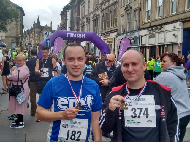 Neil and Mark Watson completed the run