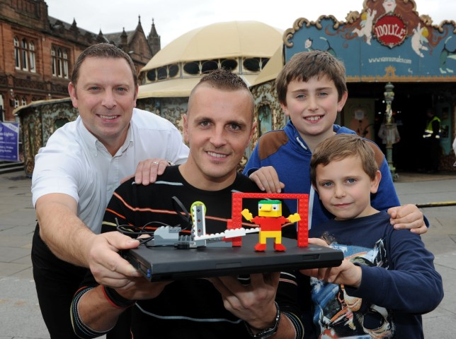 St Mirren goalkeeper Marian Kello popped by The Spiegeltent last year to take part in Lego with Robotics workshop - and built a Lego goalkeeper