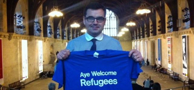 Syrian refugee group arrive at Glasgow Airport