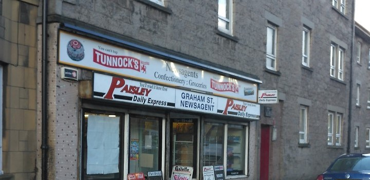 Police appeal for help after Johnstone newsagent was robbed by 'Batman'