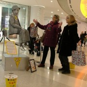 Floating statue boy amazes intu Braehead shoppers and raises thousands for Children in Need