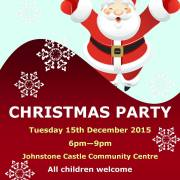 Johnstone Castle Christmas party on Tuesday