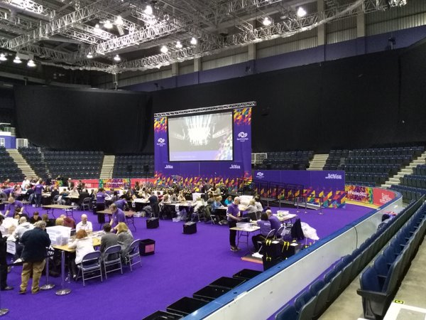 Busy count at Braehead Arena. Photo Credit: Renfrewshire Council