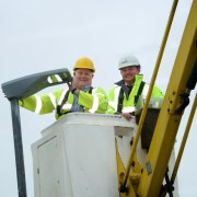 Installation starts on new LED street lights