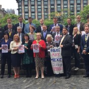 Gavin Newlands attends anti-Trident rally in Westminster