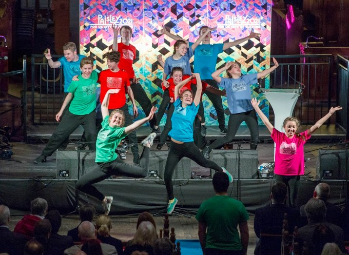 PACE Youth Theatre performing at the launch of the CHE Fund earlier this year
