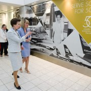 HRH The Princess Royal marks Glasgow Airport's Golden Anniversary