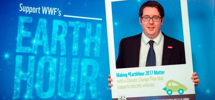 MSP Neil Bibby supporting Earth Hour 2017