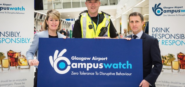 Justice Secretary helps launch Glasgow Airport's 2017 Campus Watch initiative