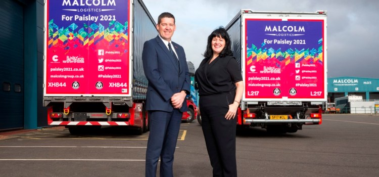Leading UK logistics firm spreading Paisley 2021 message