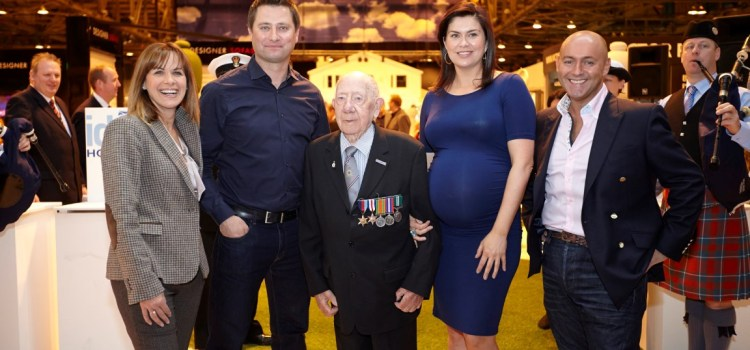 RAF Themed Show Garden at Ideal Home Show in Memory of Erskine Veteran