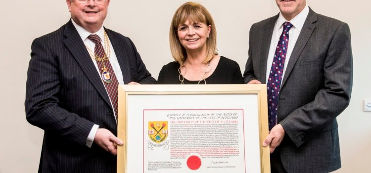 UWS officially launches new Coat of Arms