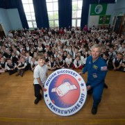 Mission Discovery comp winner over the moon as NASA astronaut visits school