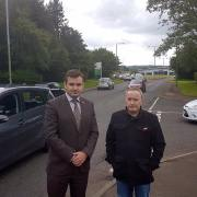 MP and community activists meet Council representatives to discuss traffic concerns at Saturn Avenue, Linwood