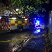 Fire service attend blaze at empty flats in Johnstone