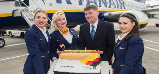 Ryanair's New Glasgow to Frankfurt service takes off