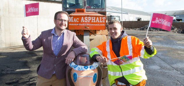 Paisley firm Mac Asphalt rolls into action to show support for the town's 2021 UK City of Culture bid