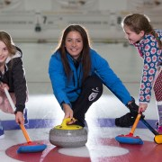 N'ice one as Olympic curler Eve coaches kids