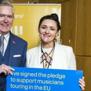 Paisley's MSP, George Adam, backs musicians in his constituency to get the best possible deal from Brexit