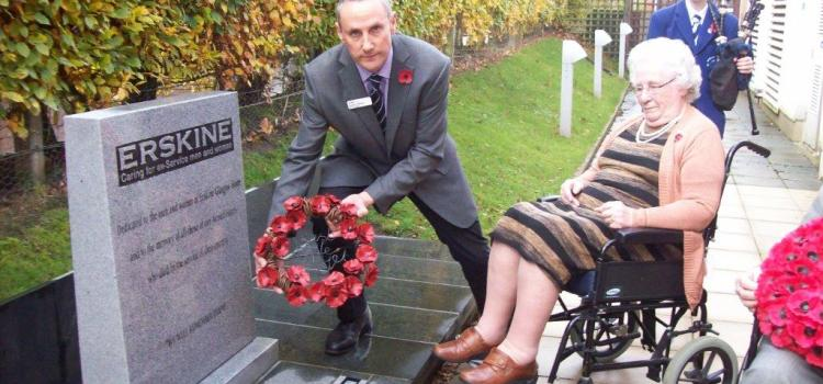 Scotland's veterans' charity Erskine marked Armistice Day with a moving Service of Remembrance at their homes
