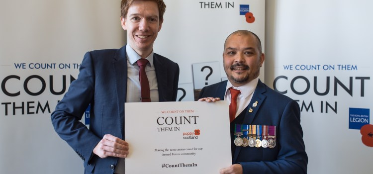 MP pledges support to The Royal British Legion and Poppyscotland's 'Count Them In' campaign