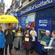 MP leads day of action to save Renfrew RBS branch