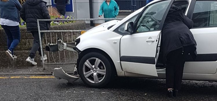 Two cars collide on Johnstone High Street
