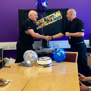 Johnstone Community Policing Sergeant Alan Mack retires after 30 years as a Police Officer