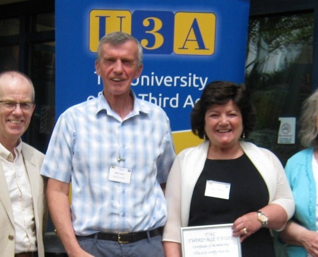 Paisley & District'sUniversity of the Third Age officially recognised at certificate presentation