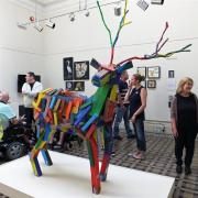 Disability centre's art group work goes on show