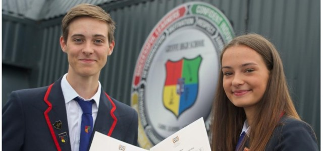Gryffe High School pupils celebrate their exam results