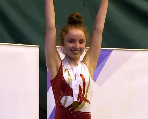 St Columba's pupil wins trampolining gold