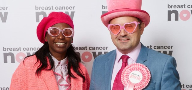 MP poses in pink at Houses of Parliament to support fundraiser