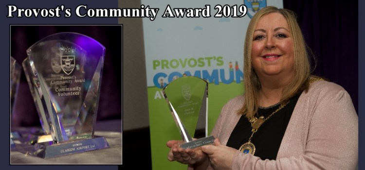 Nominations open for the Provost's Community Awards in Renfrewshire for 2019