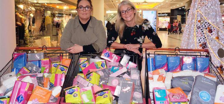 Shopping mall helps campaign to beat period poverty