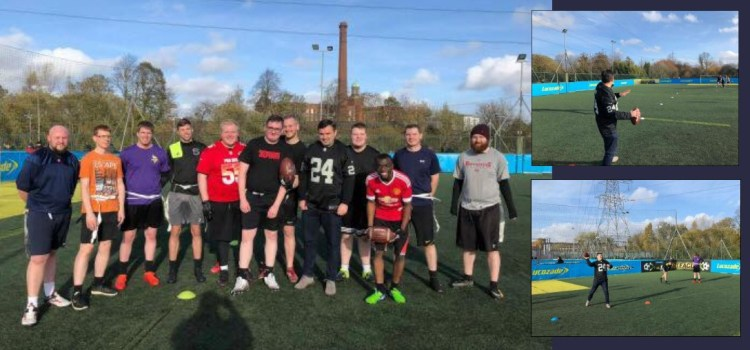 MP throwing it in with American Football Club Renfrewshire Raptors