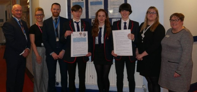 Gryffe High School pupils attempt to raise awareness of bereavement support in schools