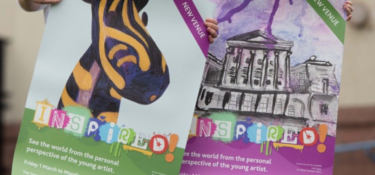 Pupils' Inspired Art Competition artwork on display