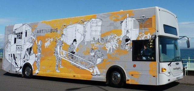 Travelling Gallery bus brings art to the people
