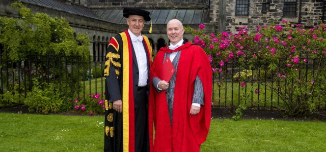 Andy Campbell receives Honorary Doctorate from University of the West of Scotland