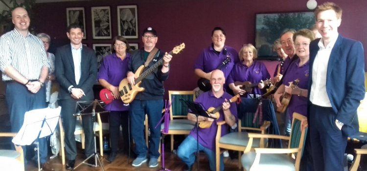 MP sings care home praises at launch of dementia-friendly music session