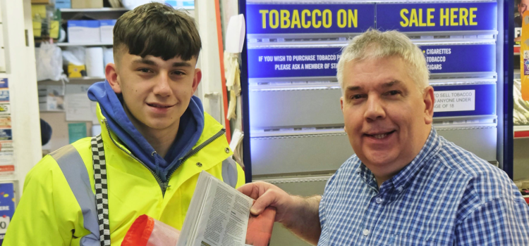 Teen actor Liam is following in Tom Cruise's footsteps… by delivering newspapers