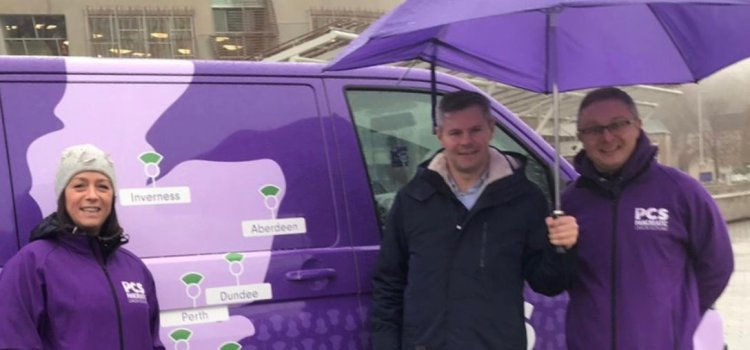 Pan Can Van visits the Scottish Parliament in an effort to raise awareness