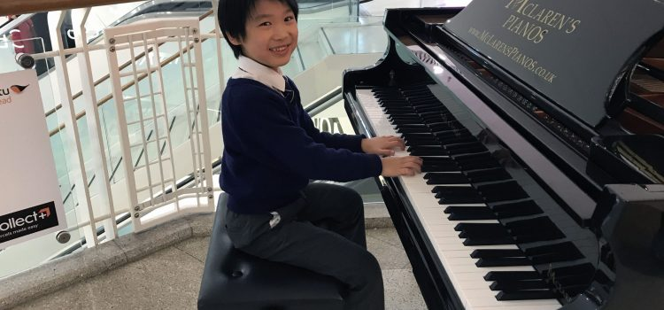 Video: Seven-year-old piano player Nathan amazes shoppers with performance at intu Braehead mall