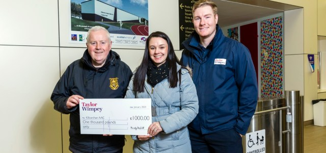 Kilbarchan Amateur Athletic Club receives financial boost from Taylor Wimpey